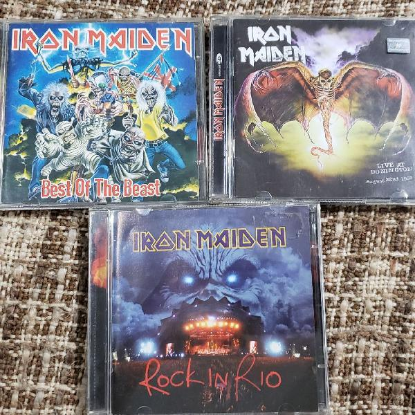 Kit 3 cds iron maiden