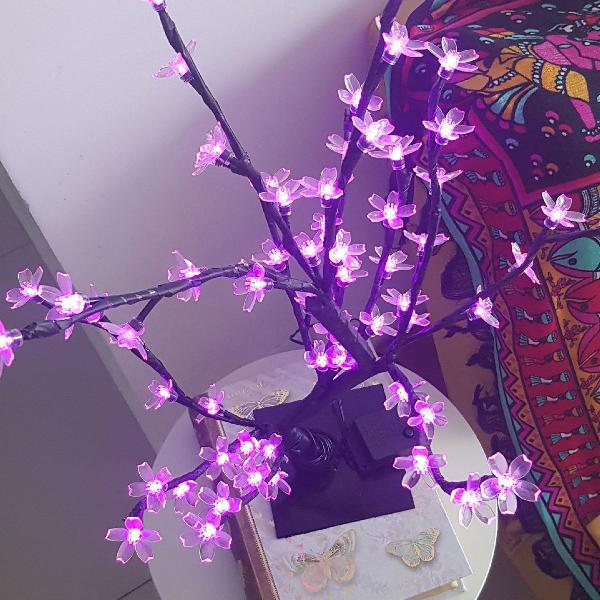 Luminária flor de cerejeira