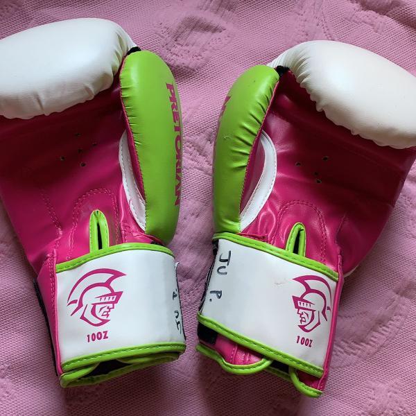 Luva de boxe pretorian rosa 10oz