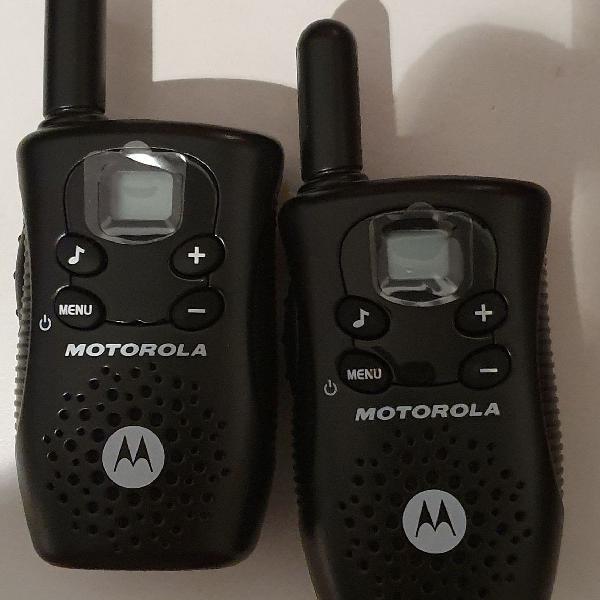 Par de rádio comunicadores motorola