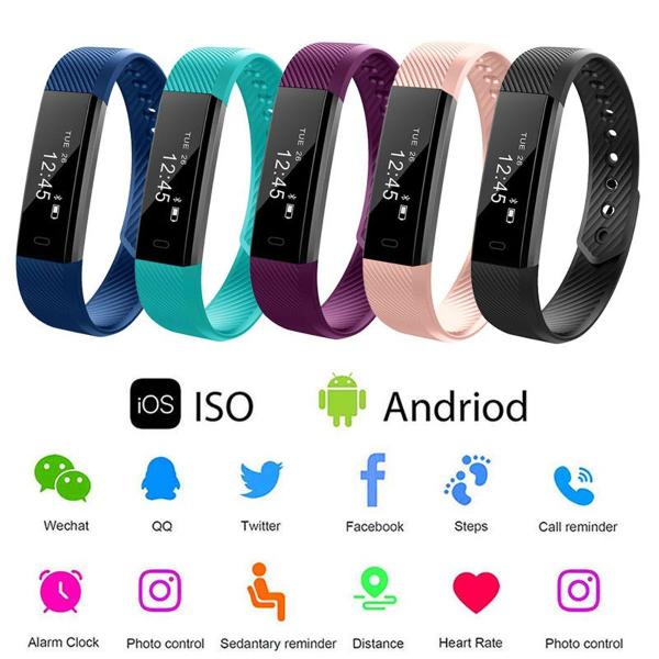 Pulseira inteligente a prova d'agua smart watch android/ios,