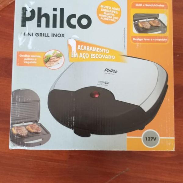 Sanduicheira grill inox philco