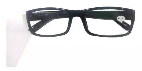 Armação de óculos com lentes de grau +2,5 p/perto e