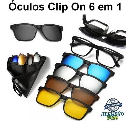Armação de óculos p/ grau clip on 6