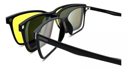 Armação oculos grau solar original osônio clip on pr