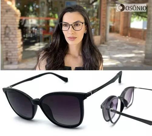 Armação oculos grau solar osônio os146 clip on original