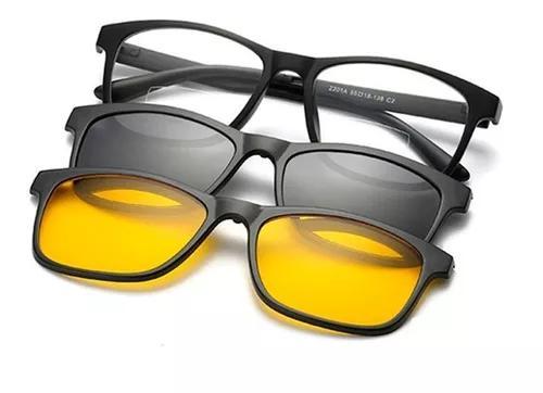 Armação óculos + 2 clip on 3