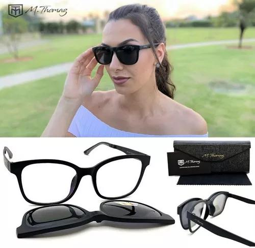 Armação óculos grau original m.thomaz mt133 clip on tr90