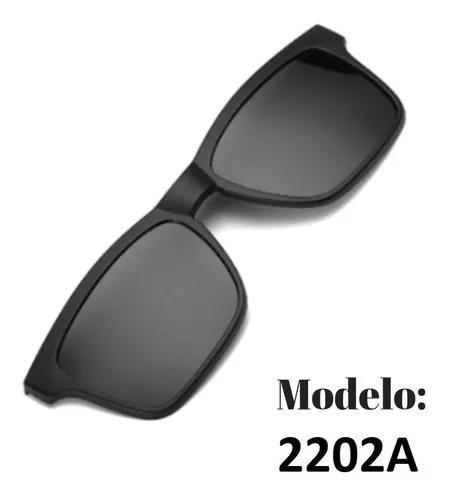 Clip on preto polarizado modelo 2202a