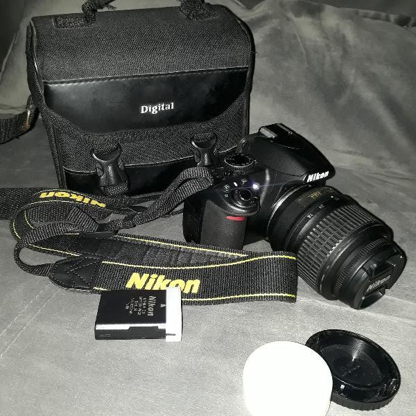 Câmera nikon d3100 profissional com lente 18-55mm