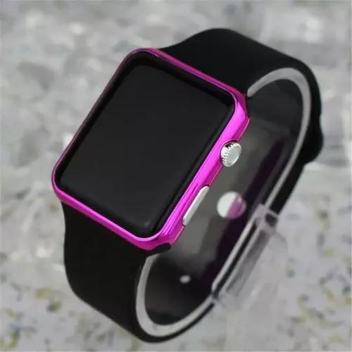 Relógio de pulso digital led masculino f