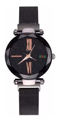 Relógio luxo céu estrelado fecho de imã romanos caixa