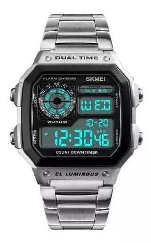Relógio masculino digital esportivo prova d'água skmei
