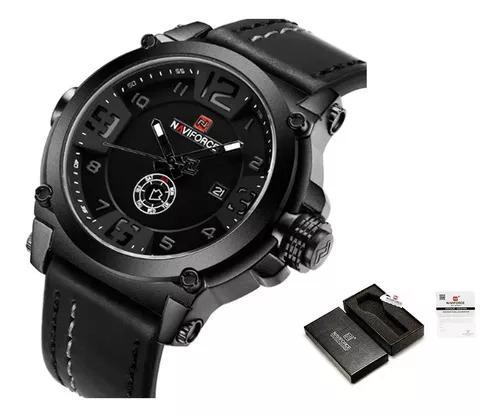 Relógio masculino militar esportivo naviforce pulseira