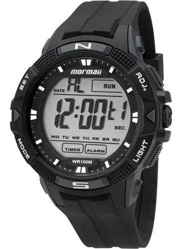 Relógio masculino mormaii mo5001/8c (rev. autorizada) nfe