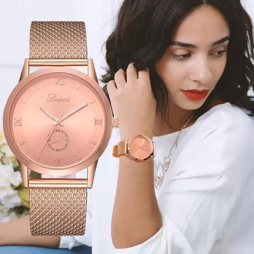 Relógio rose gold lvpai f