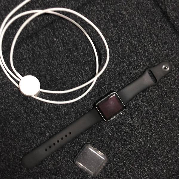 Apple watch série 1 38mm + 4 pulseiras + capa protetora +
