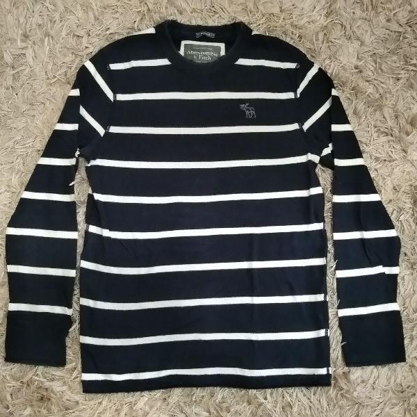 Blusa azul marinho abercrombie