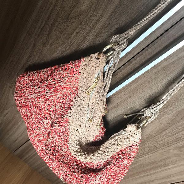Bolsa de couro trancado a mão (artesanato nordestino)