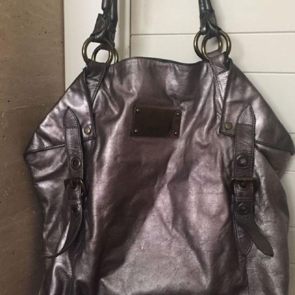 Bolsa ellus, cor prata envelhecido.