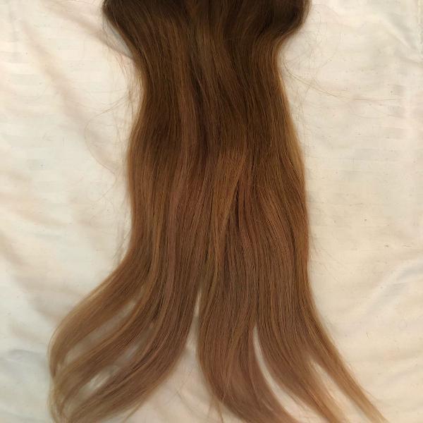Cabelo mega hair aplique alongamento loiro presilha