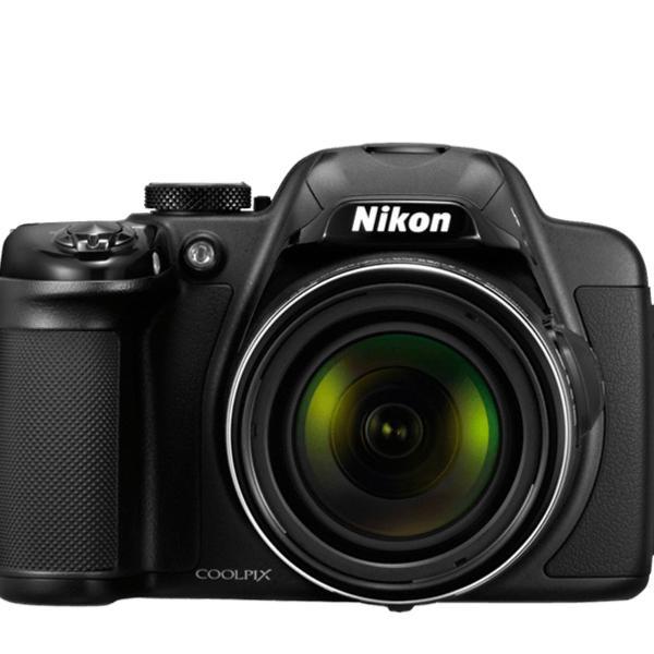 Camera nikon colpix p 520+cartão+tripe+bolsa+cabos