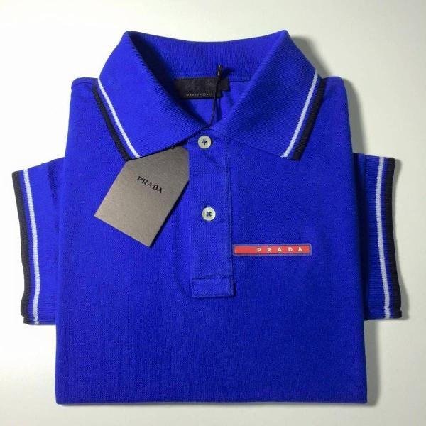 Camisa polo prada azul royal tam.p,m,g,gg