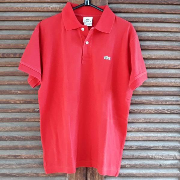 Camiseta polo vermelha lacoste tam 5 (p)
