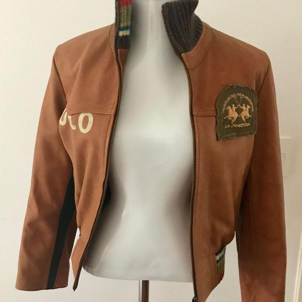 Casaco chaqueta couro