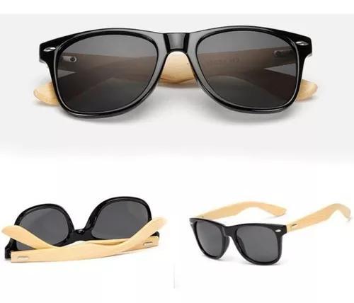 Culos de sol de madeira masculino/f