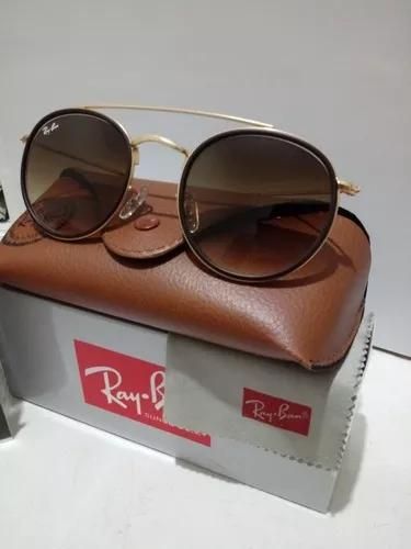 Culos de sol ray ban doublé bridge marrom degrade rb3647
