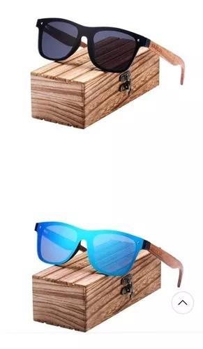 Culos sol barcur caixa de madeira original uv400 polarizad