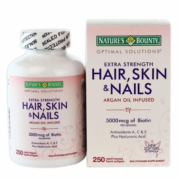 Hair, skin & nails nature's bount