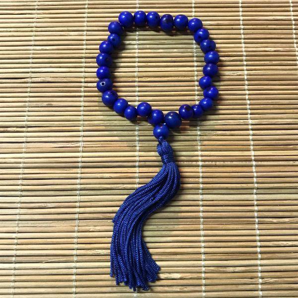 Japamala 27 contas sementes de açaí azul marinho