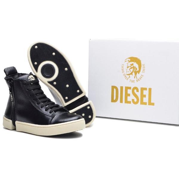 Tênis cano alto diesel / bota em couro sapato casual