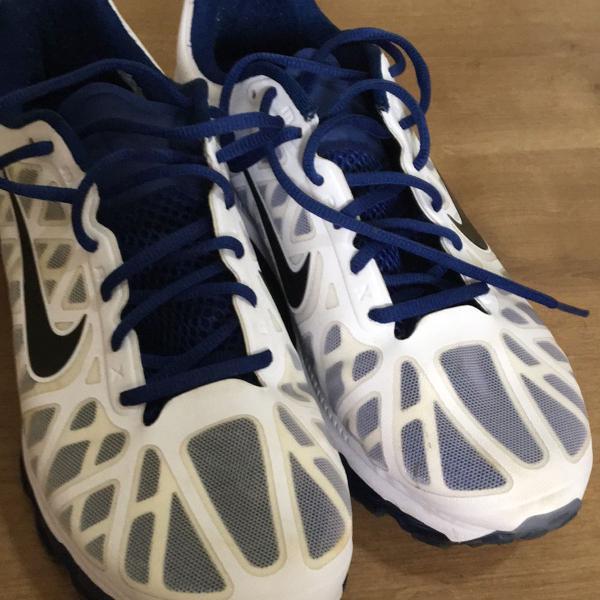 Tênis nike airmax branco e azul marinho