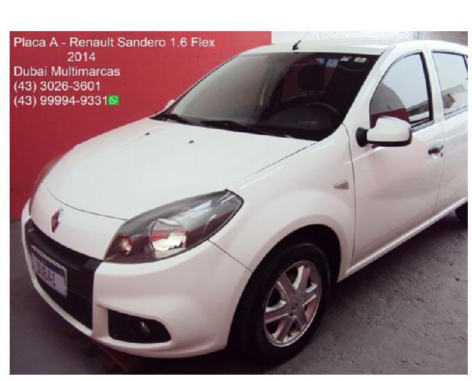 Renault Sandero Expression 1.6 Flex - Placa A - 2014