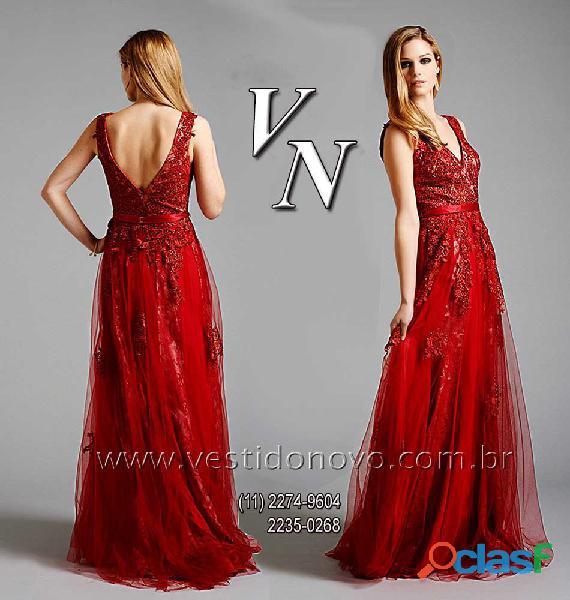 Vestido vermelho plus size da loja vestido novo zona sul