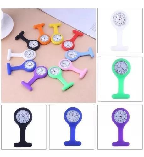 4 peças de relógio de lapela silicone para enfermag