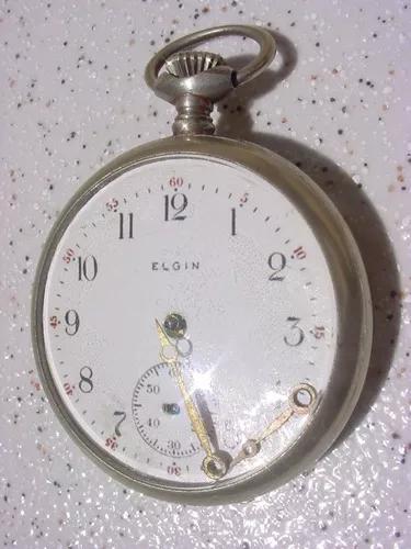 Antigo relógio bolso corda marca elgin ano 1940 (lê