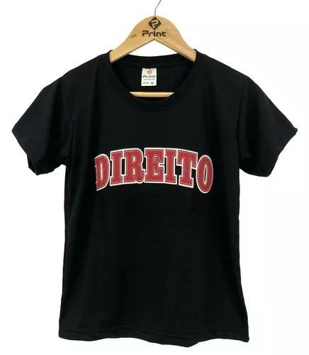 Blusa universitária direito camiseta bordada