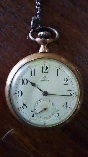 Castelo antiguidade relógio bolso omega plaque atigo