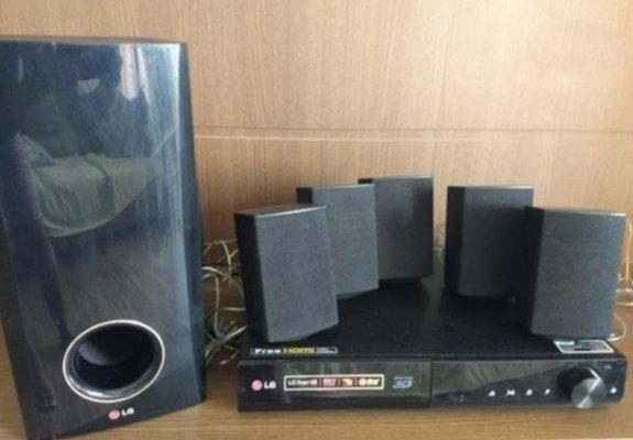 Home theater lg blu-ray 500 wats full hd - 5.1 canais - 3d -