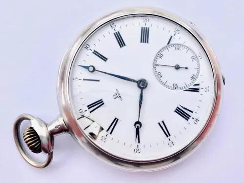 Ilustre relógio bolso omega grand prix 1900 paris prata 900
