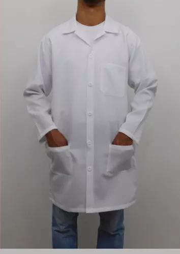 Jaleco hospitalar masculino manga longa