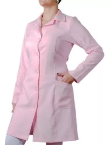 Jaleco rosa acinturado medicina veterinária dentista