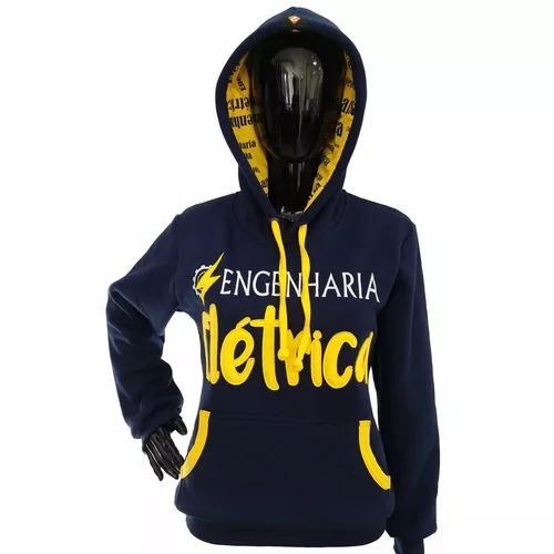 Moletom universitário engenharia elétrica blusa de frio