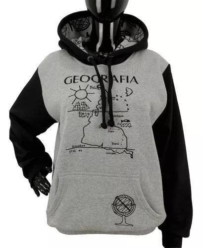 Moletom universitário geografia blusa de frio bordada com