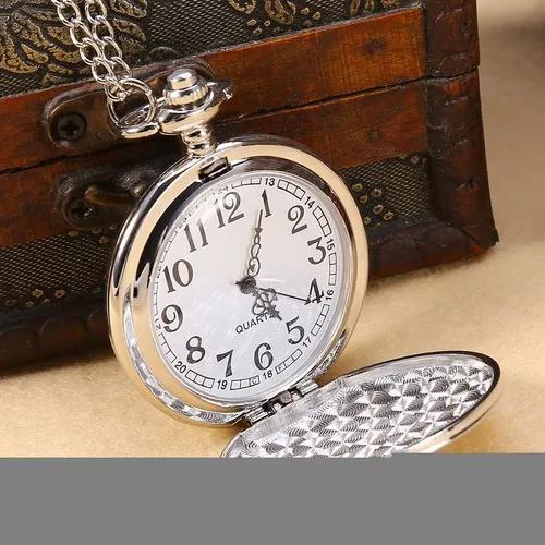 Pingente colar relógio bolso suave analógico de quartzo cl