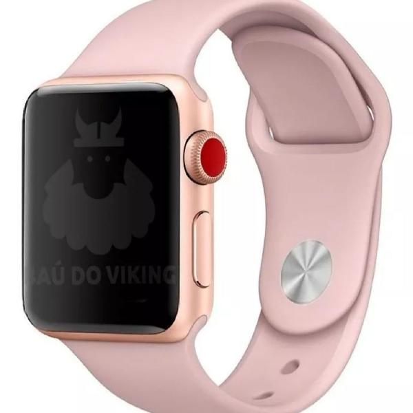 Pulseira apple watch 38mm 40mm 42mm rosa areia